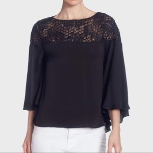 NEW Black  Flowing Lightweight Blouse
